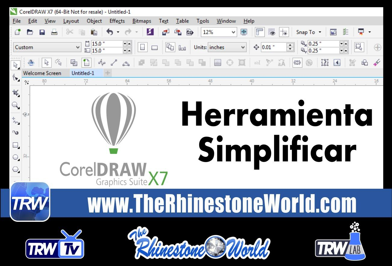 Spanish CorelDraw Simplify Tool Basics The Rhinestone World
