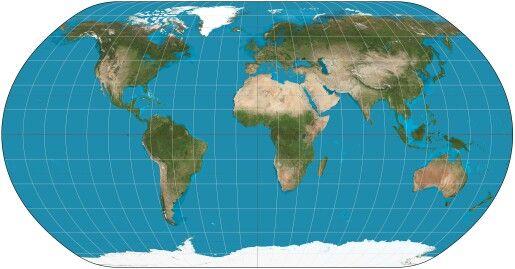 Earth laid out flat #MaVi