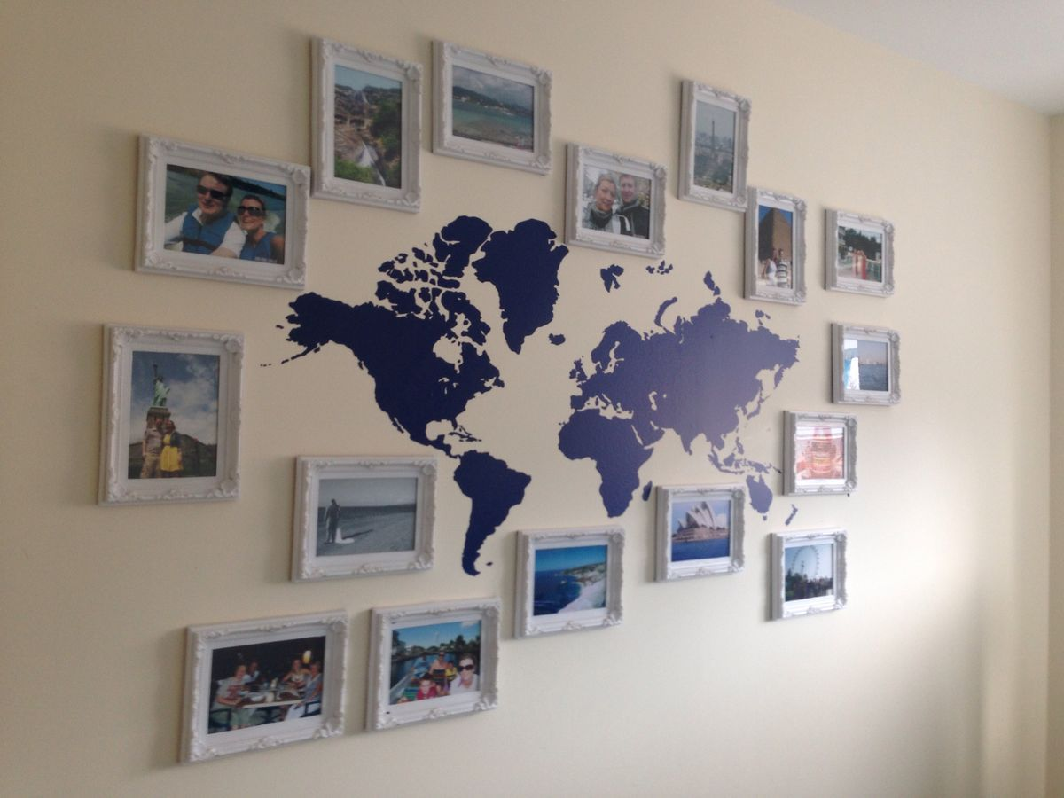 Travel gallery wall world map decor house pinterest travel travel gallery wall world map decor gumiabroncs Images