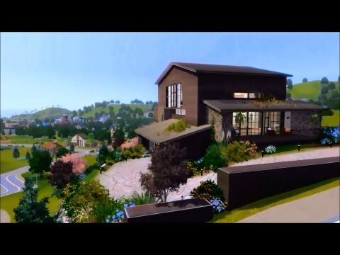 The Sims 3 Modern Cliff House Youtube