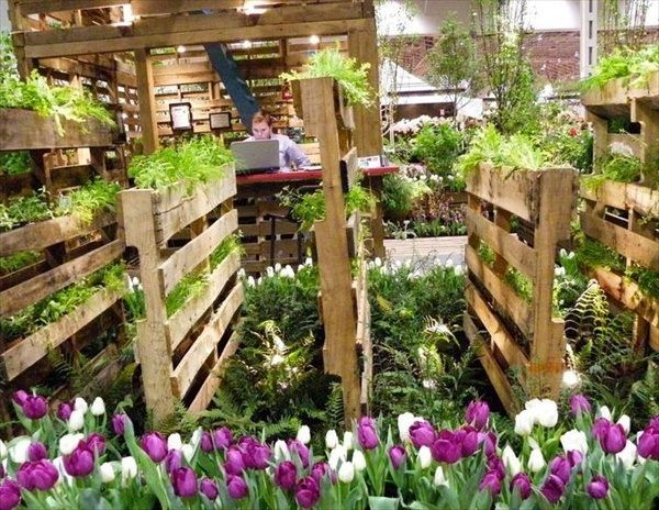 Tips Ideas For Wooden Pallet Vertical Garden Space Saving Ideas