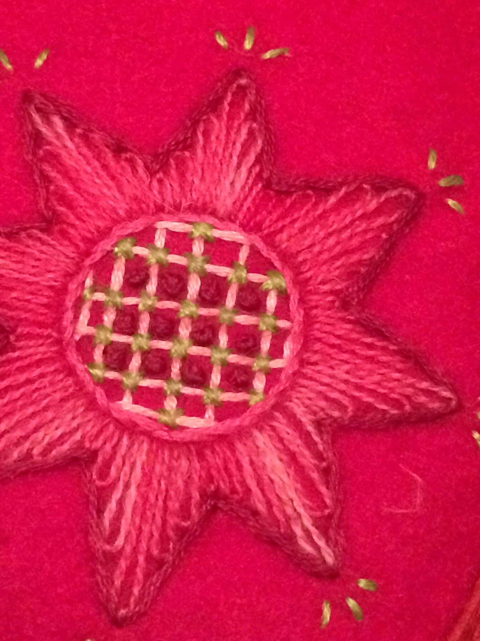 Detail of my latest wool embroidery