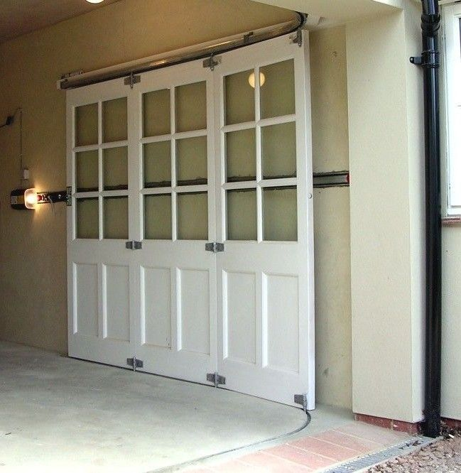Modern Garage Doors In An Astonishing Protection: Horizontal Sliding Garage Doors. A Sliding Garage Door Is
