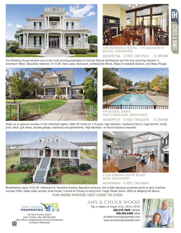 Amy and Chuck Wood are the agents for these great listings ...