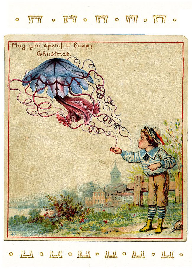 Victorian Christmas Cards That Are As Creepy As Those Times ...