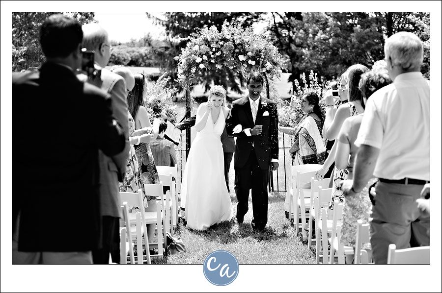 outdoor wedding ceremony sites in akron ohio%0A Wedding guests tossing lavender at bride and groom after ceremony at  Fieldcrest Estate in North Canton