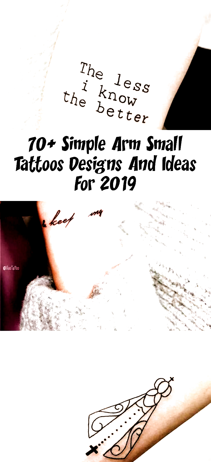 Photo of 70+ Simple Small Arm Tattoos designs and ideas for 2019 Arm Arm tattoos quote-qu…