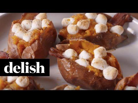 Candied Bacon Sweet Potatoes | Delish - YouTube