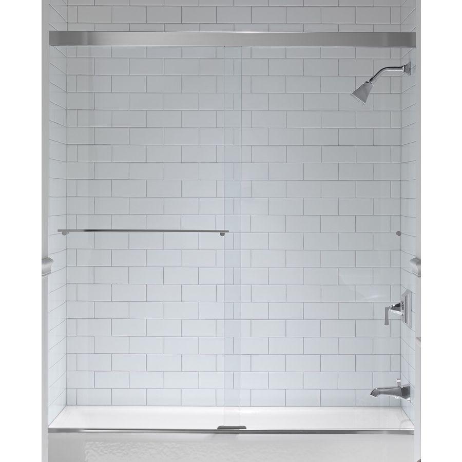 Kohler Revel 59 625 In W X 62 In H Frameless Bathtub Door