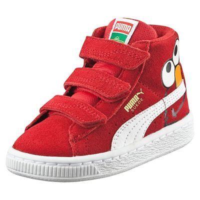 9a81d79a PUMA Suede Sesame Street® Elmo Mid Kids Sneakers | Elmo Shoe Ideas ...