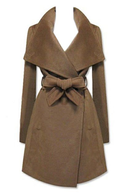 New Style Lapel Brown Coat | Fall coats, Style and Wraps