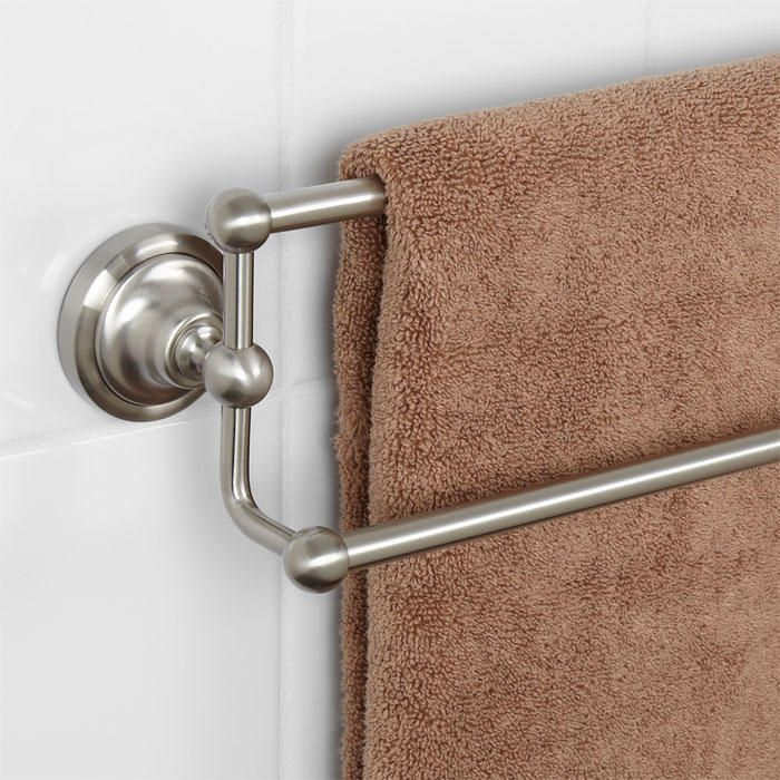Holliston Double Towel Bar Towels Brushed Nickel And Bar