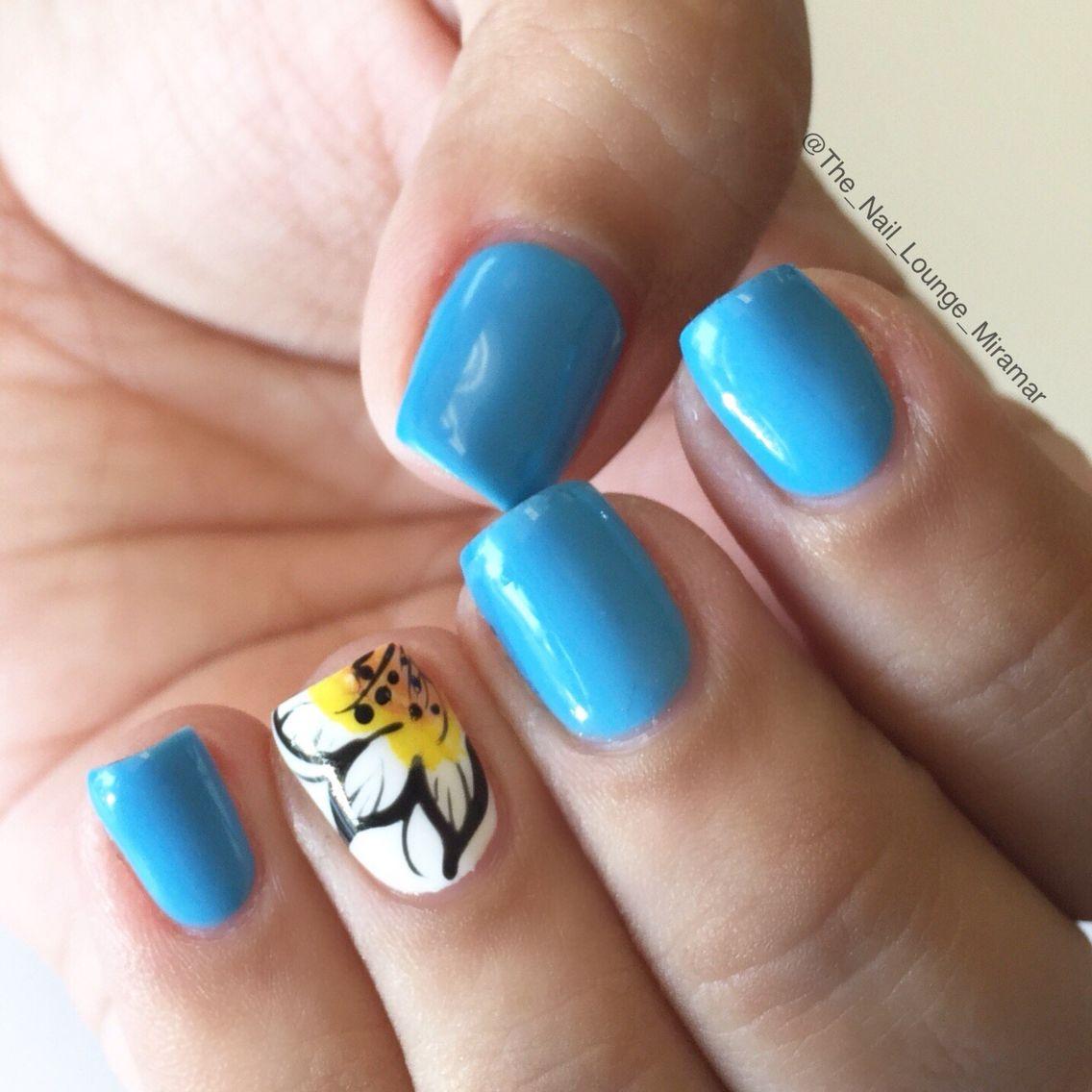 Easy flower nail designs for beginners   Flower nail