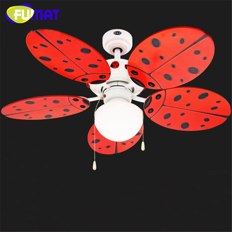 Fumat ceiling fans light cute red ladybug children room ceiling fan fumat ceiling fans light cute red ladybug children room ceiling fan lights decorative fans ceiling lamp nursery ceiling fan dinning room design 3 aloadofball Image collections
