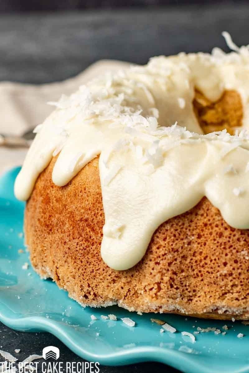 Coconut louisiana crunch cake recipe with coconut glaze