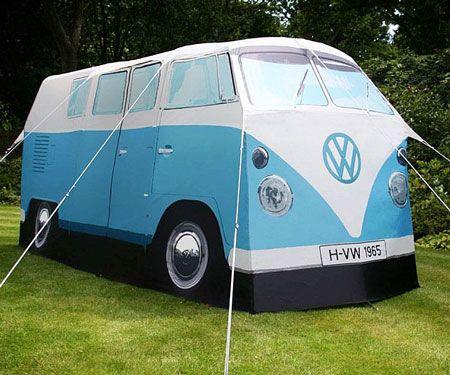 80731387 VW Camper Van Tent | Camping | Vw tent, Van camping, Van tent