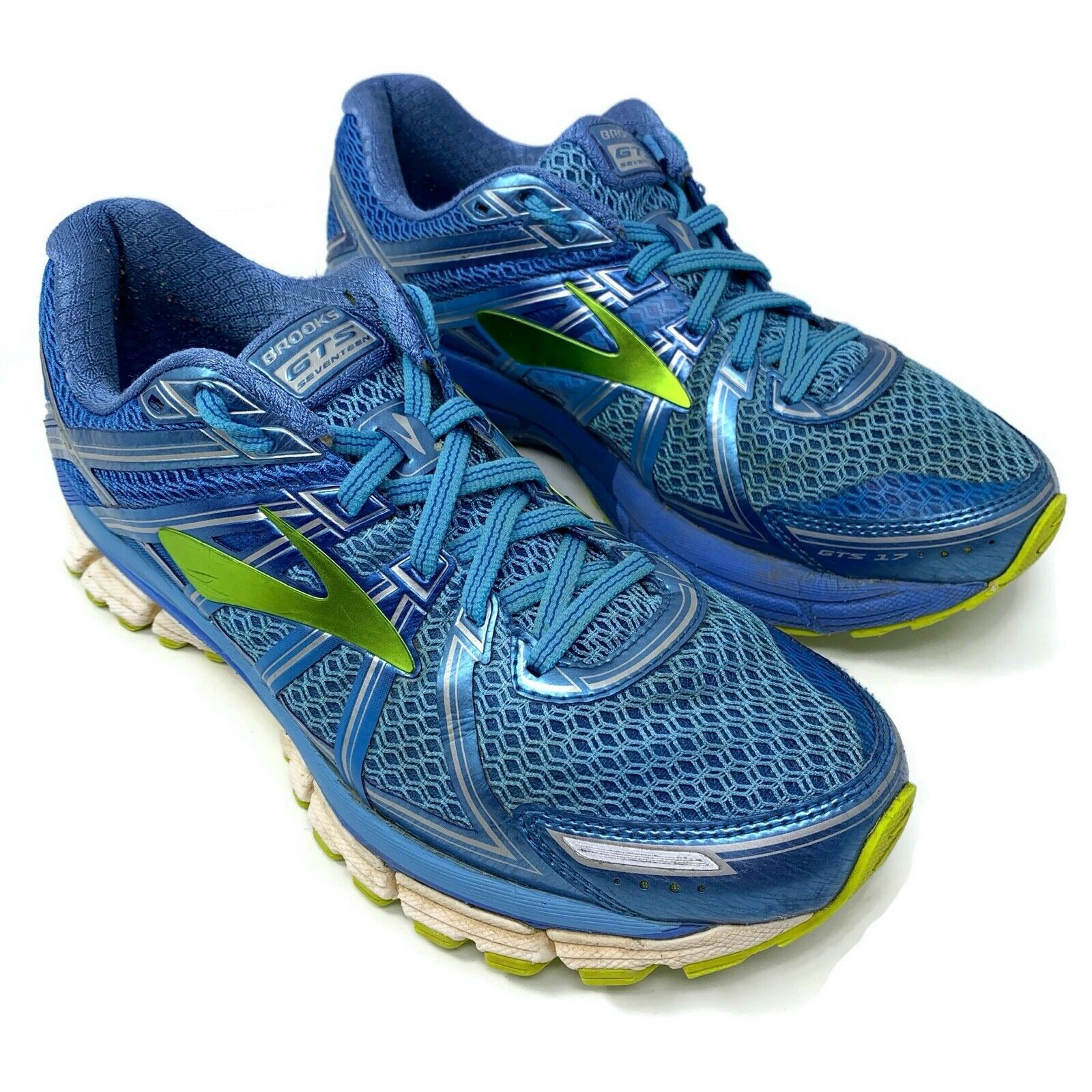 Details About Brooks Adrenaline Gts 17 Running Shoes 1202311b464 Blue Silver Women S Size 9 In 2020