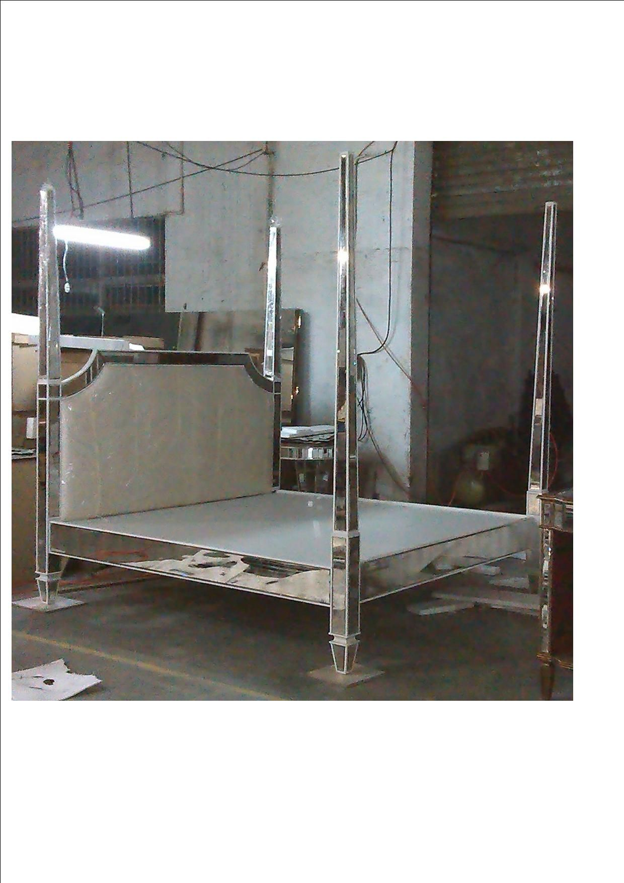 Louis Bed (No Canopy) Ready To Ship The Mirrored Bed