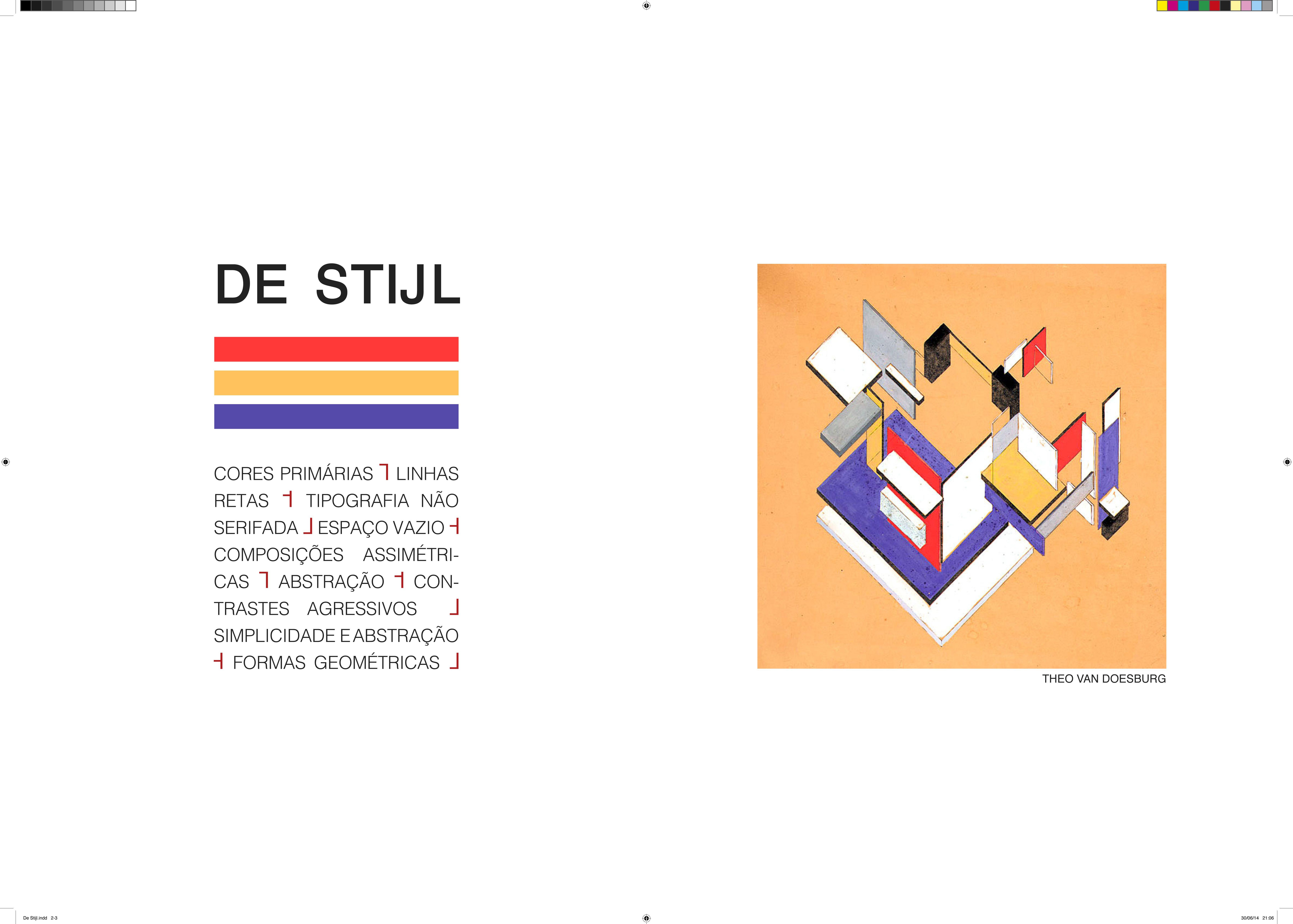 Célia Santos, Catarina Vasconcelos, Tânia Frade — Dupla-página projecto 'De Stijl'