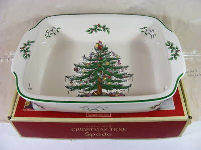 Spode Christmas Tree Square Footed Cake Plate Multi in 2018