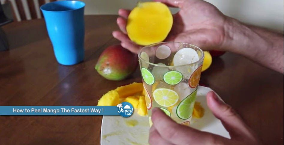 How to Peel Mango The Fastest Way !