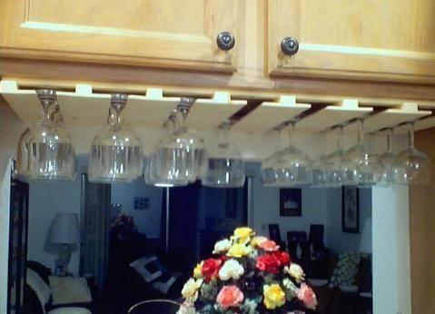 Under Cabinet Glass Rack 36 x 12 | butler's pantry | Pinterest ...
