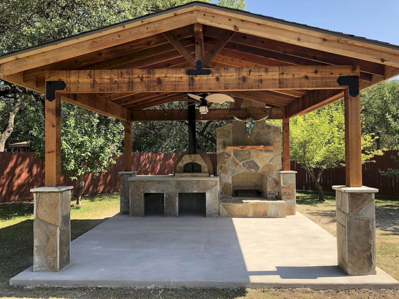Cool 85 Incredible Outdoor Kitchen Design Ideas For Summer Source Https Wholehomekover Com 8 Backyard Pavilion Outdoor Kitchen Patio Backyard Patio Designs