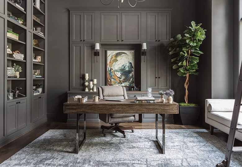 Create A Luxurious Yet Modern Office Using Our Lighting Pieces Discover More Luxurious Interior De Home Office Design Home Office Decor Home Office Furniture #office #and #living #room #ideas