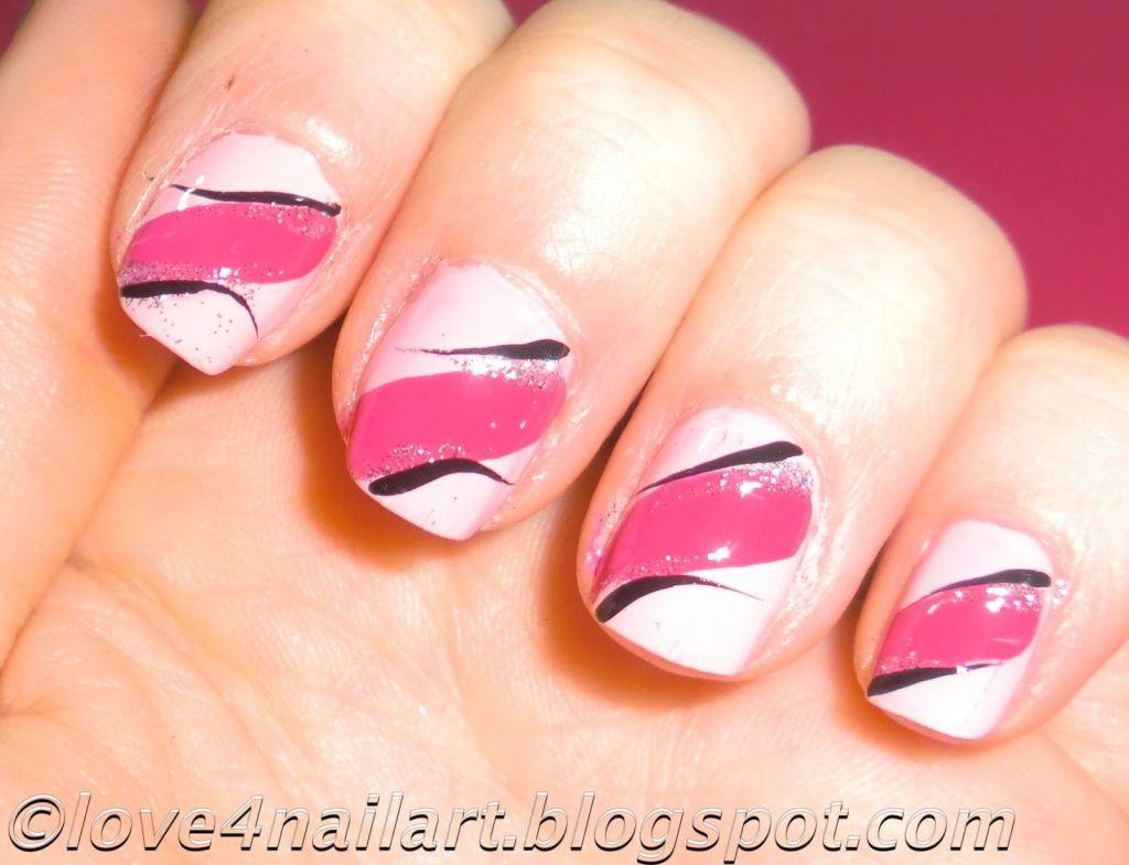 Simple Nail Art Design For Short Nails Easy Nail Art Design At