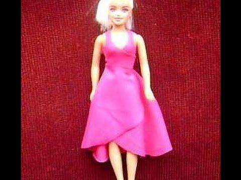616bccde2 Com fazer o vestido mais fácil do mundo e sem Costura(vestido Para Barbie)