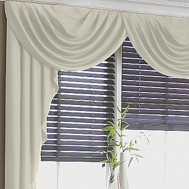 swag valances for living room. Cream  for Living room or dining both Supreme