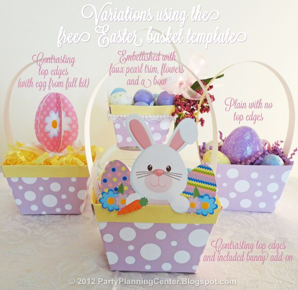 Party planning center free printable paper easter baskets please party planning center free printable paper easter baskets please click the pink free easter negle Image collections