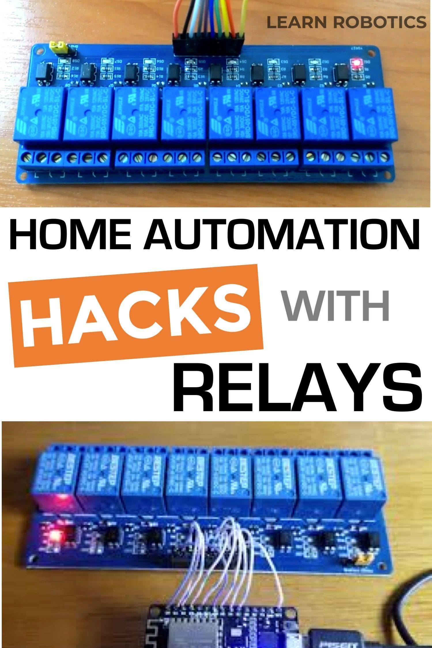 3 Projects using Relays & Arduino for Home Automation