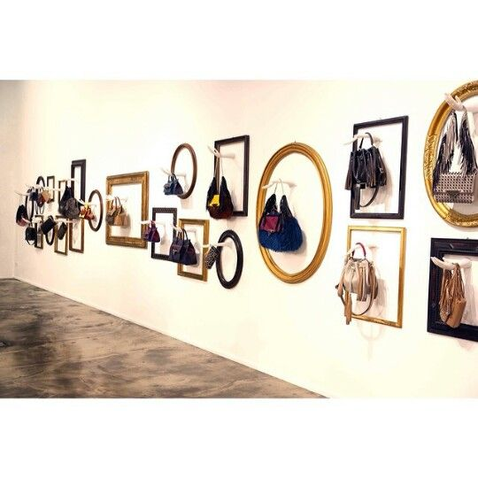 "Display Ideas For Handbags: Great Display Idea ""Wall Of Fame!"" Love It!! €�"