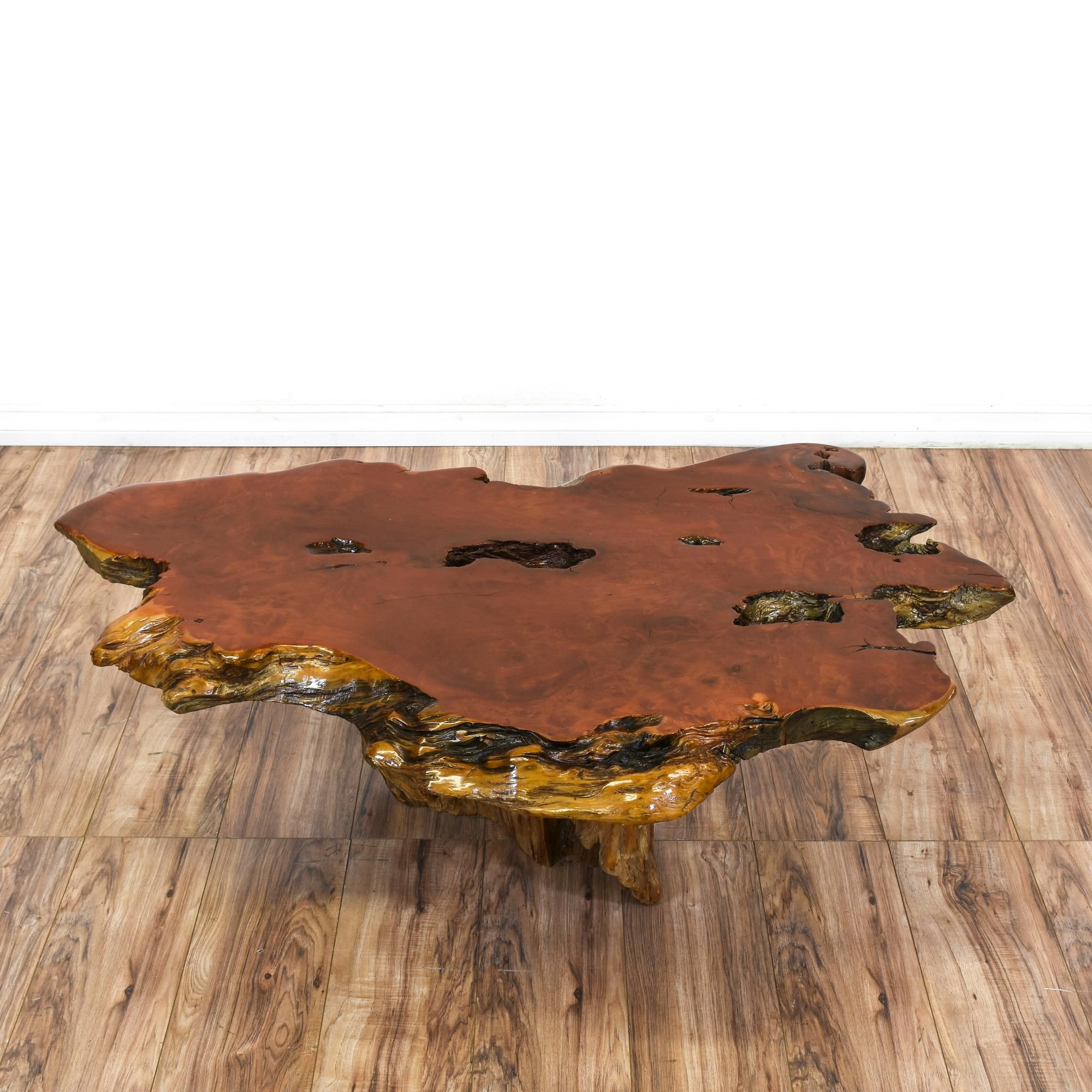 Redwood Couchtisch This Redwood Burl Slab Coffee Table Is Featured In A Solid Wood