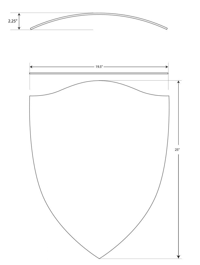 Captain America Heater Shield Template