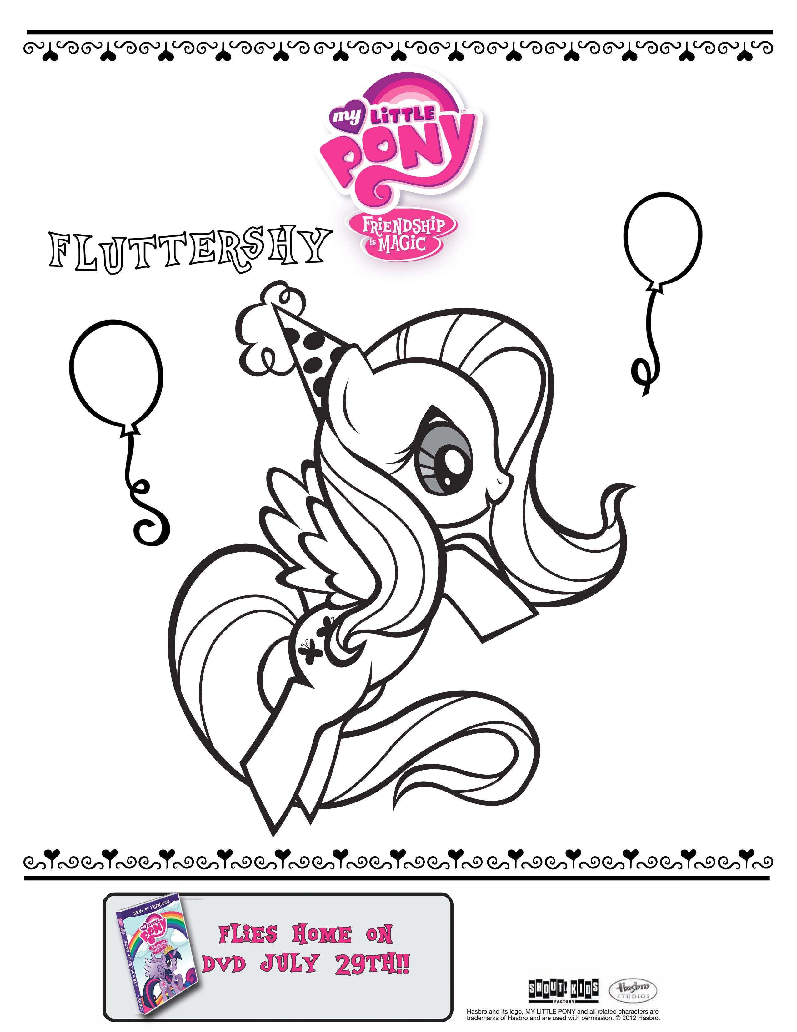 My Little Pony Fluttershy Coloring Print Out Doodle Pinterest