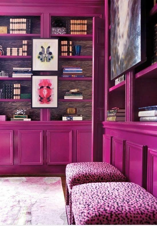 Lindsay Coral Harper Interior Designer Library Modern