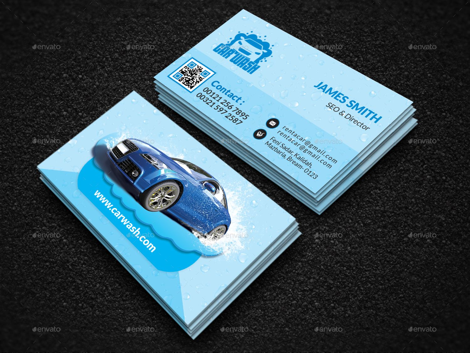 Car Wash Business Card Car Wash Business Car Wash Business Cards