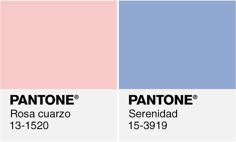 Colores Pantone Del Ano 2016 Rosa Cuarzo Y Serenidad Pantone Colores Pantone Colores
