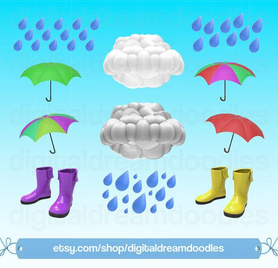 Weather Clip Art Rainy Day Clipart Thunder Cloud Clipart Etsy Clip Art Cloud Clipart Weather Clipart
