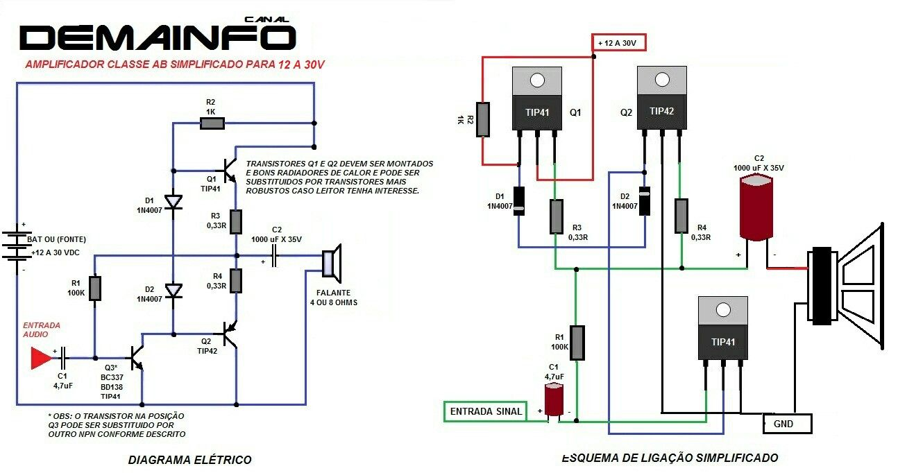Circuits Apmilifier Simple Class A Power Amplifier By Irf530