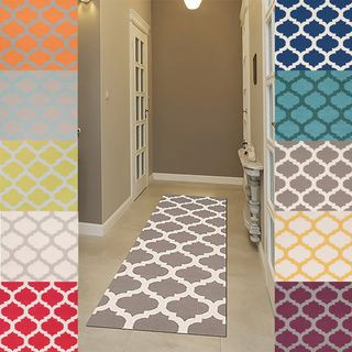 Good Hand Woven Comoros Moroccan Trellis Flatweave Wool Area Rug X   Overstock™  Shopping   Great Deals On Surya Runner Rugs
