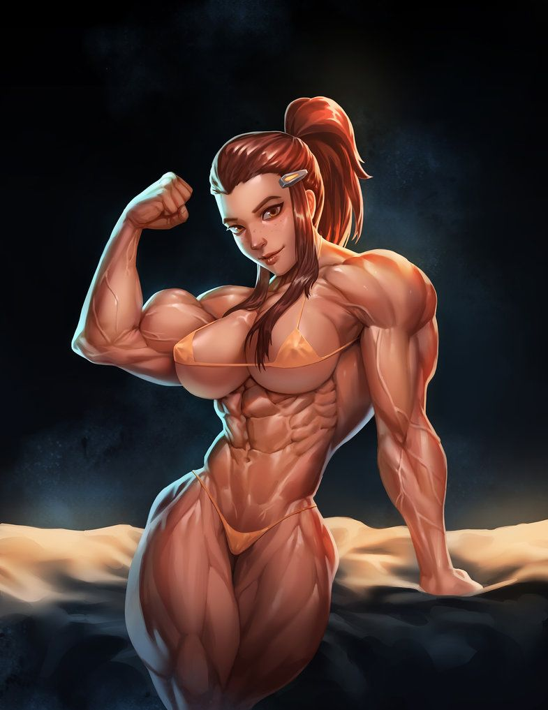 The sexy bedroom muscular in girls