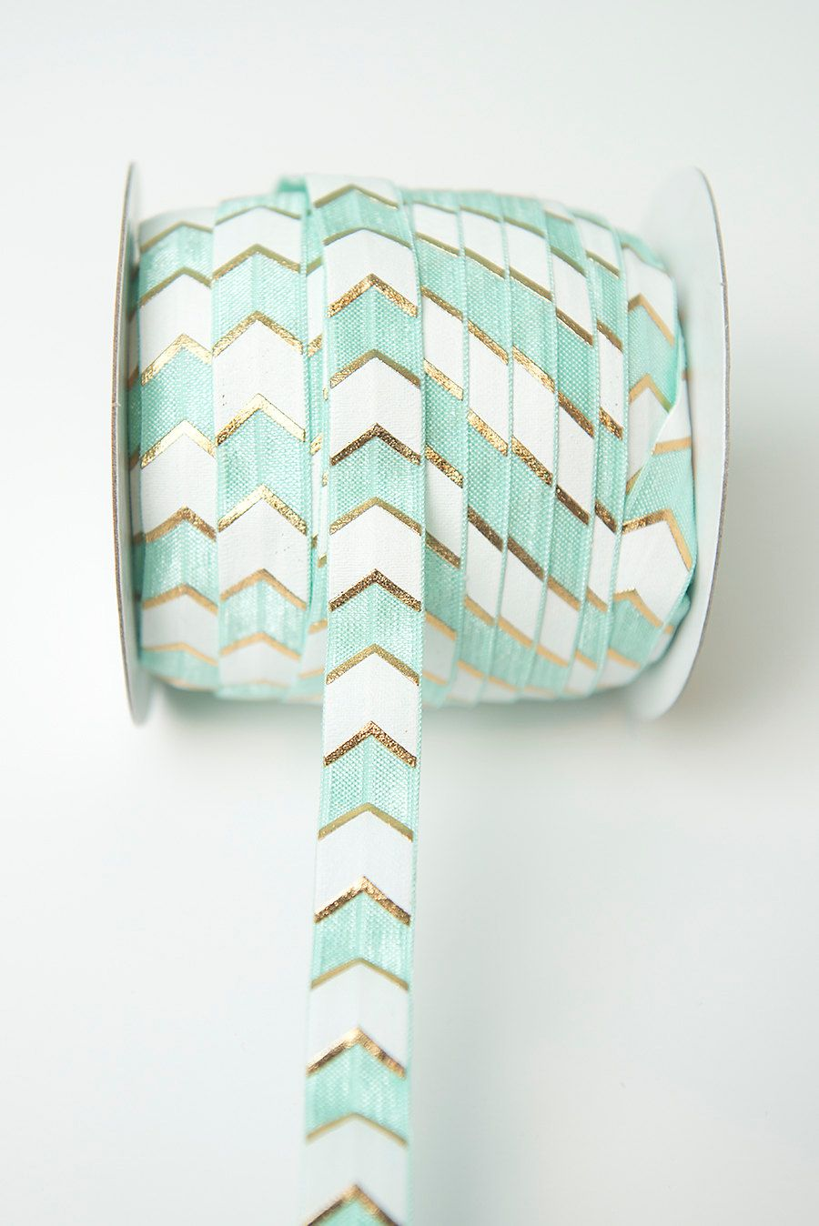 New to LaBellaRoseBoutique on Etsy: Mint gold white FOE elastic 5/8 inch Sold by the yard stretch elastic hair accessories Perfect DIY Headbands crafts garter clothing (0.80 USD)