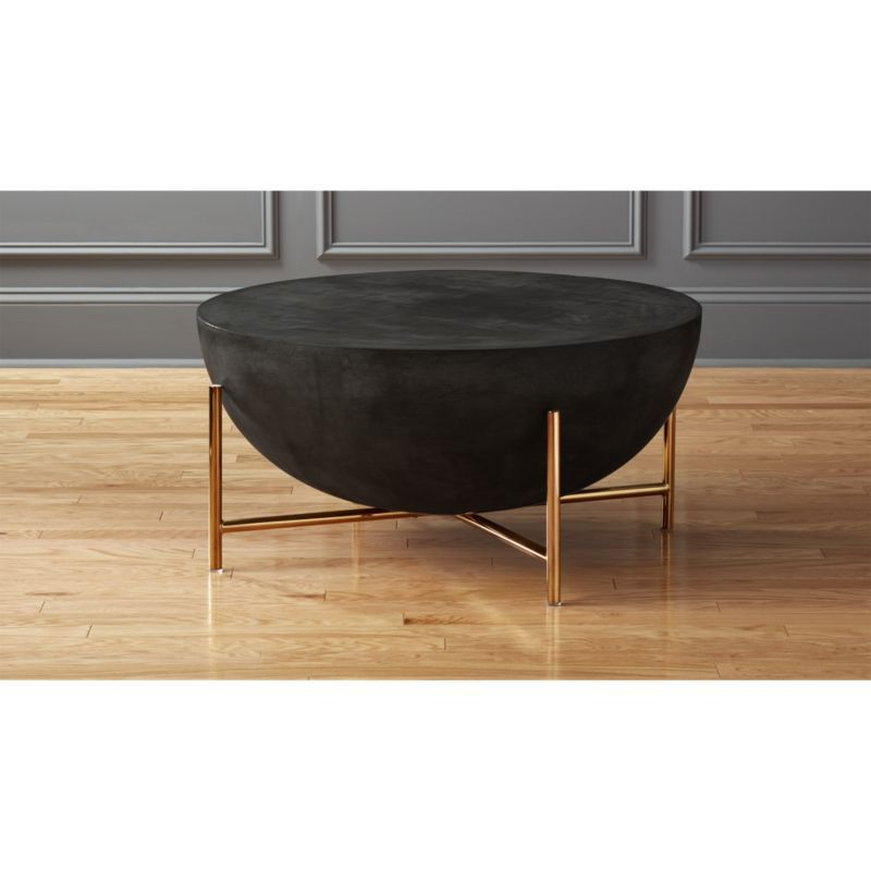 Darbuka Black Drum Coffee Table Cb2 Coffee Table Cb2 Coffee