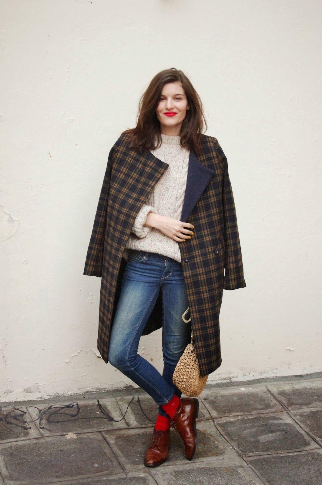 paris street style this outfit manteau coat h m sold s en ce moment jean denim h m. Black Bedroom Furniture Sets. Home Design Ideas
