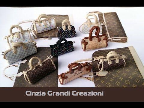 Scrap Clay Tip: Louis Vuitton Bag Charm - YouTube