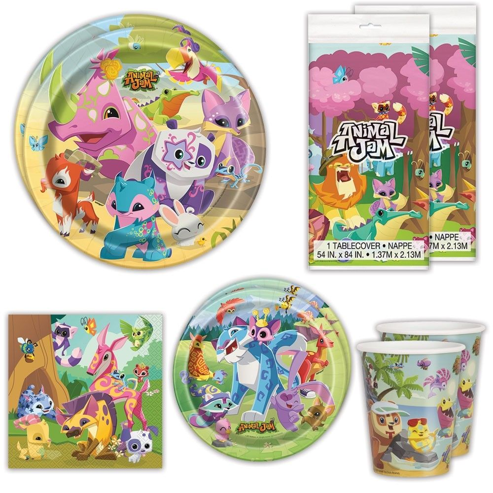 Animal Jam Deluxe Party Packs For Guests Jpg 1000x1000 Birthday