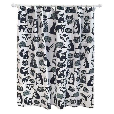 Forest Friends Shower Curtain Ebony Opaque - Pillowfort™ : Target ...